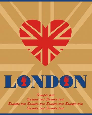 London card design. vector illustration Stock Vector - 19252286