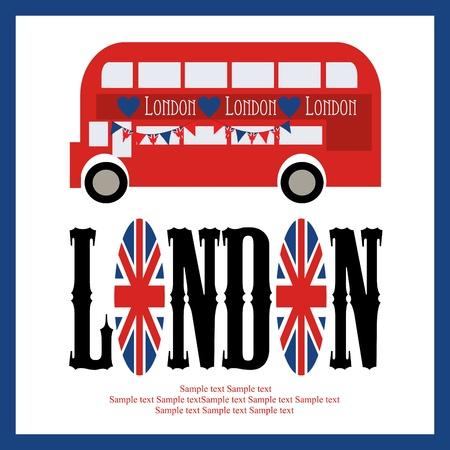London card design. vector illustration Stock Vector - 19252399
