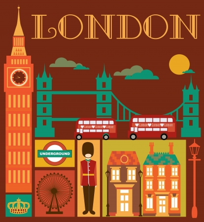 London card design. vector illustration Stock Vector - 19252297