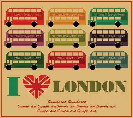I love London card design. vector illustration Vector