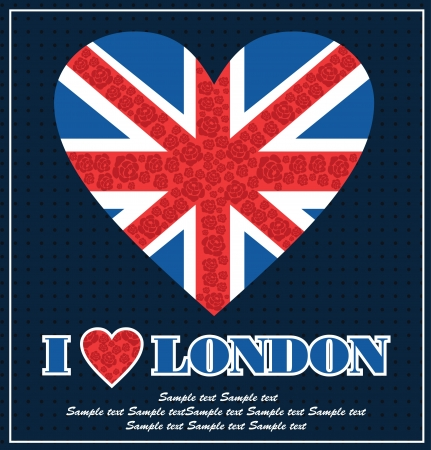 I love London card design. vector illustration Vector