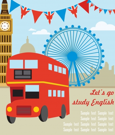London card design. vector illustration Stock Vector - 19252209