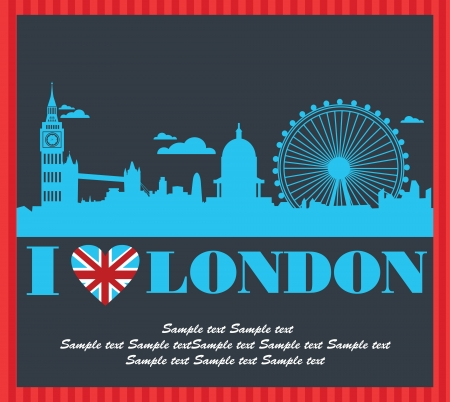 sky line: London card design. vector illustration Illustration
