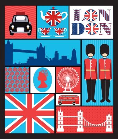 british culture: london seamless pattern design   vector illustration