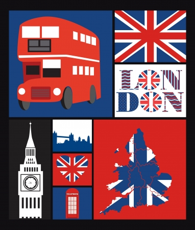 London card design  vector illustration Stock Vector - 19252229