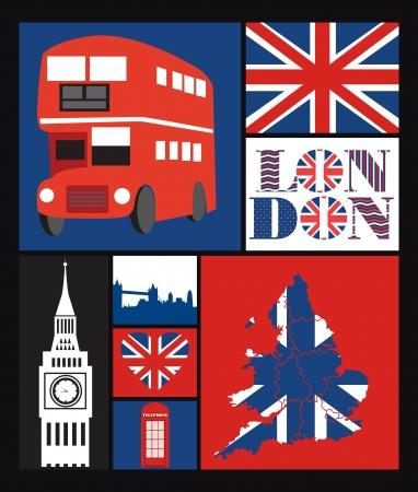London card design  vector illustration Stock Vector - 19252229