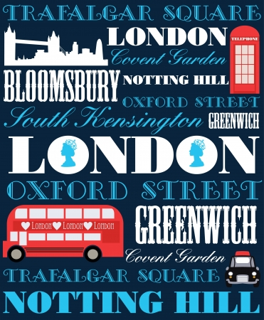 London card design  vector illustration Vector