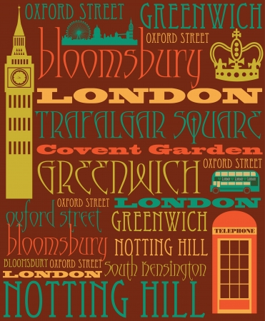 London card design  vector illustration Stock Vector - 19252285