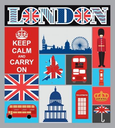 land mark: London tarjeta de dise�o, ilustraci�n vectorial