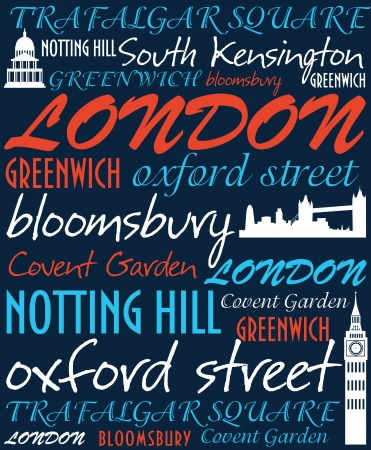 London card design  vector illustration Stock Vector - 19252452