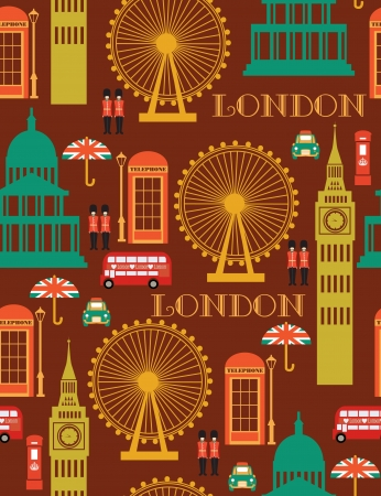 london seamless pattern design  vector illustration Stock Vector - 19252236