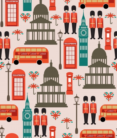 london seamless pattern design  vector illustration Stock Vector - 19252219