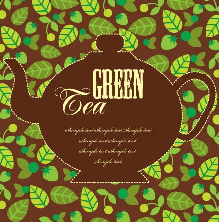 serviette: tea time card  vector illustration Illustration