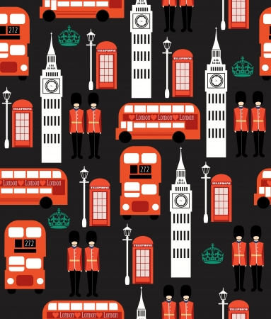 london seamless pattern design  vector illustration Stock Vector - 19252256