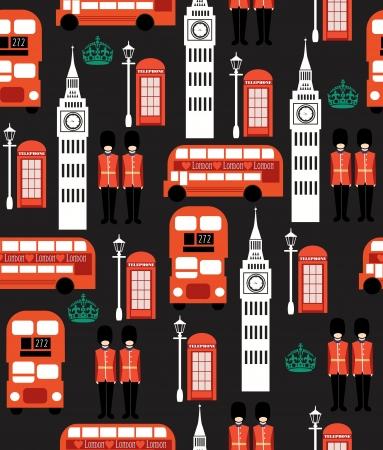 london seamless pattern design  vector illustration Stock Vector - 19252256