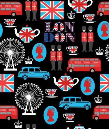 land mark: london sin patr�n ilustraci�n vectorial de dise�o
