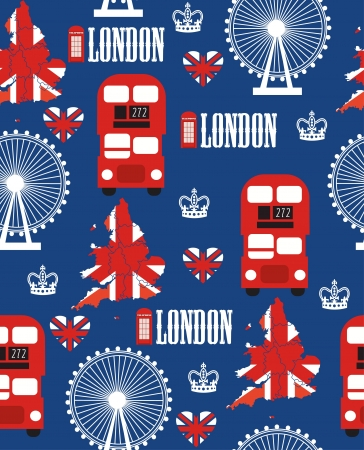 london seamless pattern design  vector illustration Stock Vector - 19252484