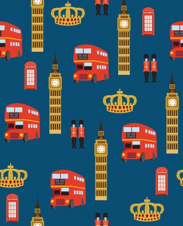 royal guard: london seamless pattern design  vector illustration Illustration