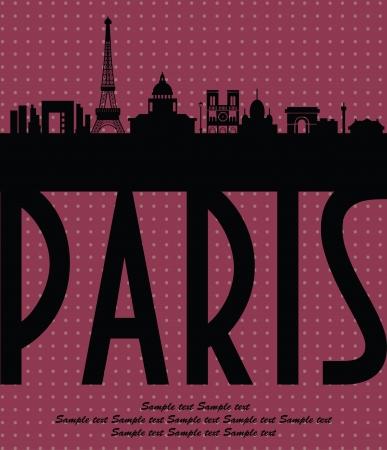 Paris card design  vector illustration Stock Vector - 19252459