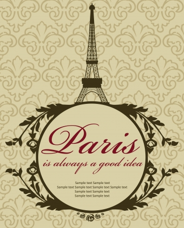 Paris card design  vector illustration Vector