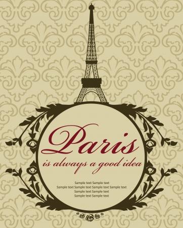 Paris card design  vector illustration Stock Vector - 19252457