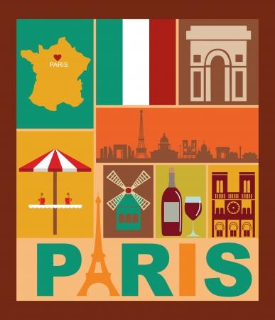 Paris card design  vector illustration Stock Vector - 19252290