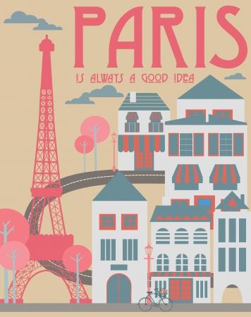 paris france: Paris card design  vector illustration