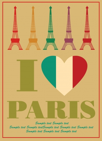 Paris card design  vector illustration Stock Vector - 19252507
