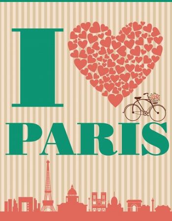 Paris card design  vector illustration