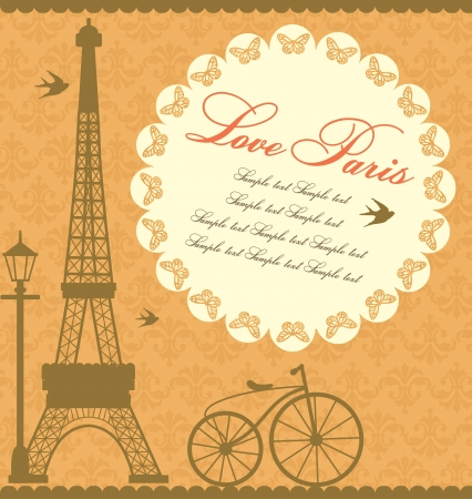 Paris card design  vector illustration Stock Vector - 19252483