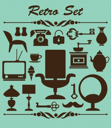 vintage chair: retro objects collection  vector illustration