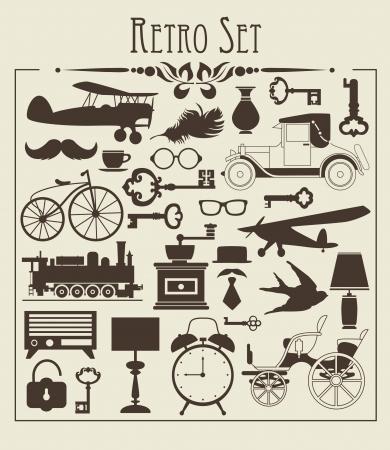 clock radio: objetos retro ilustraci�n vectorial