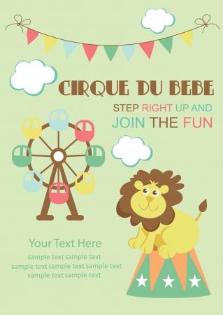 big top: fun circus card  illustration