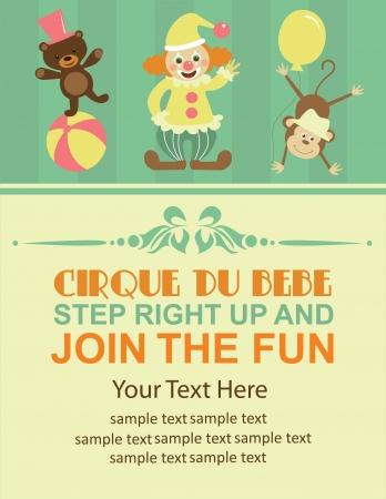 fondo de circo: tarjeta de circo divertido. ilustraci�n vectorial