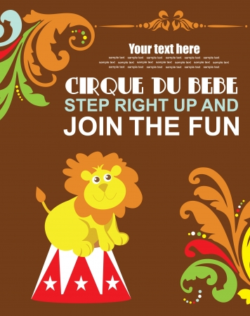 fun circus card  illustration Vector