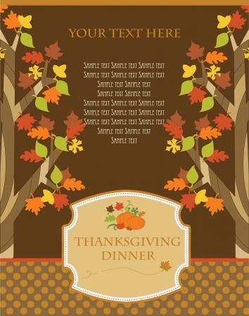 happy thanksgiving day card  vector illustration Vector