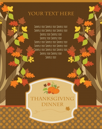 happy thanksgiving day card  vector illustration