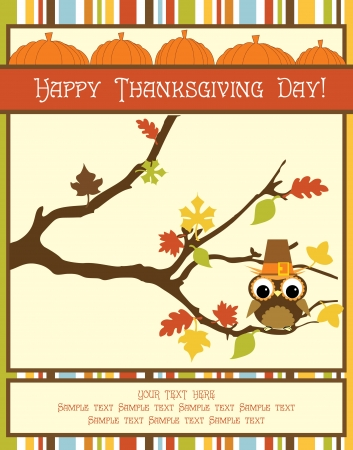 happy thanksgiving: happy thanksgiving day card  vector illustration