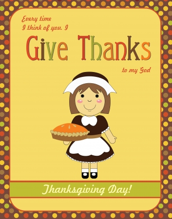 happy thanksgiving day card  vector illustration Stock Vector - 20509336