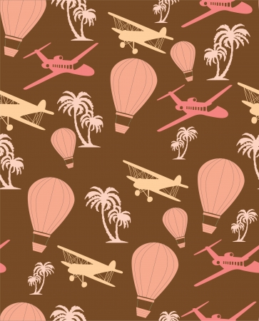 seamless retro pattern  vector illustration Vector