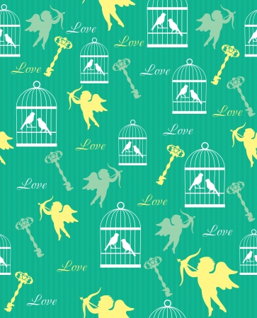 cute retro pattern  vector illustration Vector