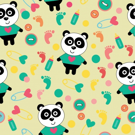seamless kid pattern vector illustration Vector