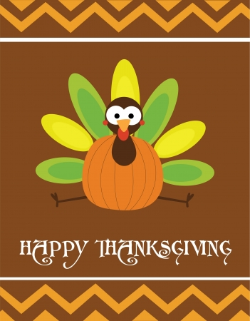 thanksgiving day greetings: happy thanksgiving day card  vector illustration