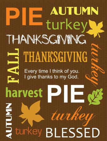thanksgiving leaves: happy thanksgiving day card  vector illustration