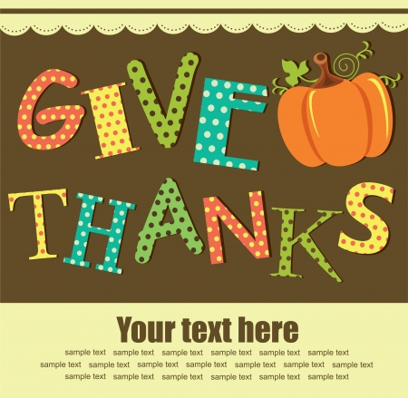 happy thanksgiving day card  vector illustration Vector
