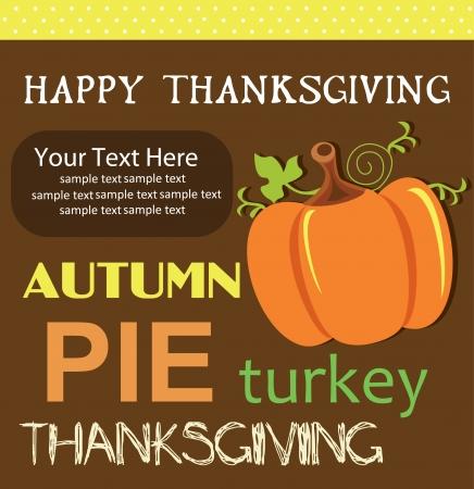 happy thanksgiving day card  vector illustrationv Vector