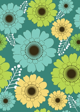 floral seamless pattern illustration Stock Vector - 19272182