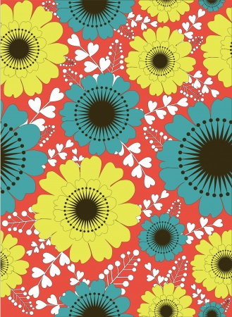 floral seamless pattern illustration Stock Vector - 19268908
