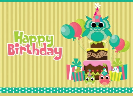 happy birthday card design. vector illustraton Stok Fotoğraf - 19306930