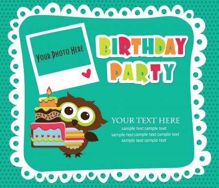 kid invitation card design. vector illustration
